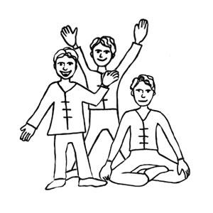 zeichnung vom erzaehlen, bewegen und meditieren